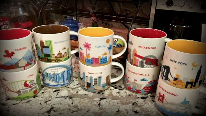 Mom's Set of Large Starbucks Mugs - Who's Thirsty? (there are more, don't worry!) - MissMaps.com