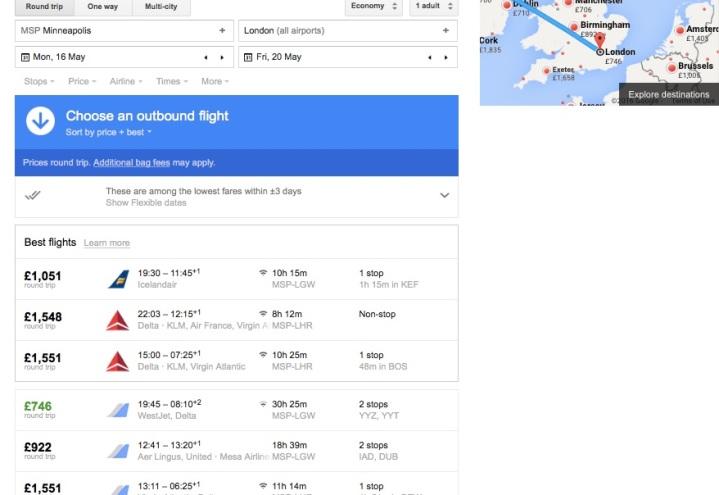 MSP to LHR Google Flight Example - Miss Maps - www.MissMaps.com