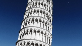 Pisa and the Moon - Leaning Tower of Pisa, Italy - by Anika Mikkelson - Miss Maps - www.MissMaps.com