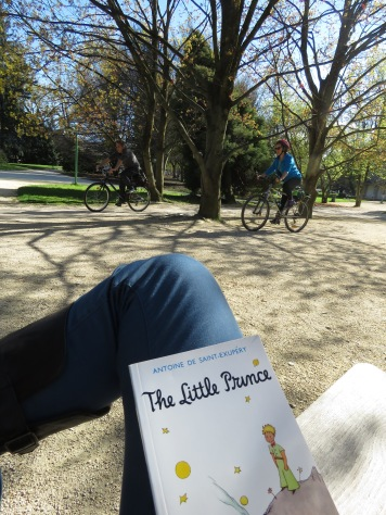 Reading The Little Prince in Grenoble France - by Anika Mikkelson - Miss Maps - www.MissMaps.com