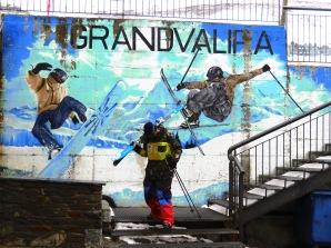 Real and Make Believe Skiiers - Andorra - by Anika Mikkelson - Miss Maps - www.MissMaps.com