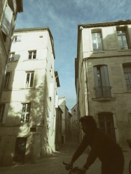 Ride your bike to work - Montpellier France - by Anika Mikkelson - Miss Maps - www.MissMaps.com