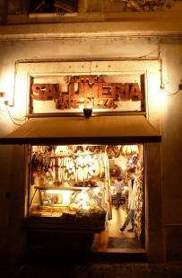 Salumeria at Night - Rome Italy - by Anika Mikkelson - Miss Maps - www.MissMaps.com