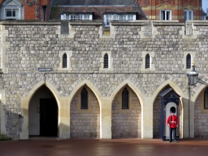 Standing Guard at St. George's Cathedral at Windsor Palace - Windsor, London, UK - by Anika Mikkelson - Miss Maps - www.MissMaps.com