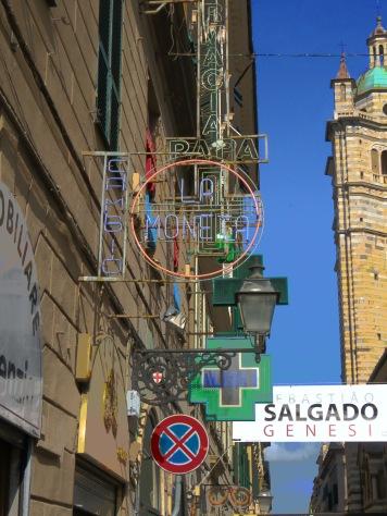 Street Signs - Genoa Italy - by Anika Mikkelson - MissMaps.com