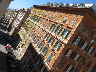 Streets of Genoa from above - Genoa, Italy - by Anika Mikkelson - Miss Maps - www.MissMaps.com