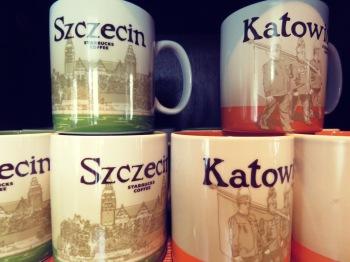 Szczecin and Katowice Starbucks Mugs