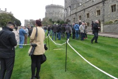 The Crowd Gets a Move on as the storm approaces - Windsor, London, UK - by Anika Mikkelson - Miss Maps - www.MissMaps.com