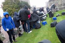 The Crowd Slowly Shrinks as Rain sets in - Windsor, London, UK - by Anika Mikkelson - Miss Maps - www.MissMaps.com