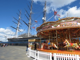 The Pride of London and Cutty Shark Ship in Greenwich London UK - by Anika Mikkelson - Miss Maps