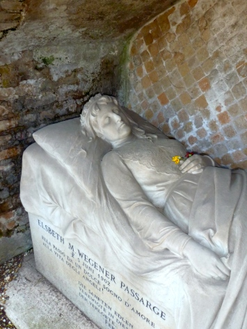 The Tomb of Elsbeth Passarge in Rome Italy - by Anika Mikkelson - Miss Maps - www.MissMaps.com