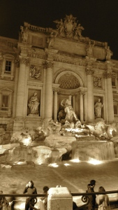 Trevi Fountain at Night in Rome Italy - by Anika Mikkelson - Miss Maps - www.MissMaps.com