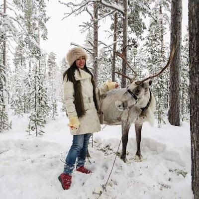 "Vivian Says ""This photo was taken when I went up to Murmansk, Russia for a short winter trip"" IG: @littlemisshappyfeet - MissMaps.com Featured Female Traveler"