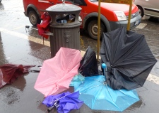 When it Rains it Pours- Umbrellas in Rome Italy - by Anika Mikkelson - Miss Maps - www.MissMaps.com