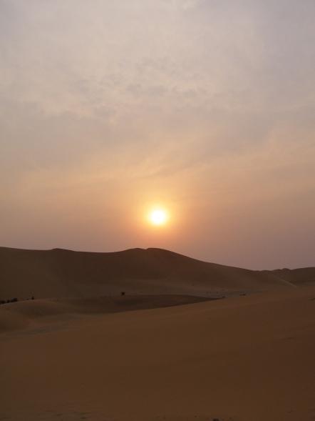 Namibian Sunset over the Desert - by Kirsty Mullahy - MissMaps.com Featured Female Traveler