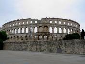 Ampitheater of Pula Croatia - by Anika Mikkelson - Miss Maps - www.MissMaps.com