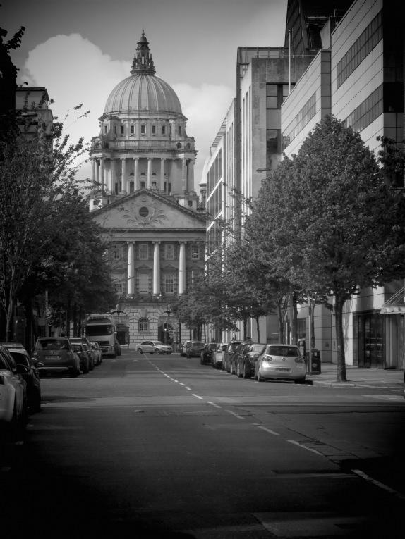 Belfast City Hall in Black and White - Belfast, North Ireland- by Anika Mikkelson - Miss Maps - www.MissMaps.com