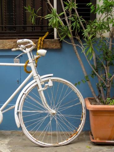 Bike in Blanc - Rimini Italy - by Anika Mikkelson - Miss Maps - www.MissMaps.com