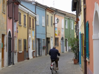 Biking down the Streets of Rimini Italy - by Anika Mikkelson - Miss Maps - www.MissMaps.com