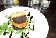 Black Pudding (Pig's Blood) and Potato Croquettes - yep I ate that - Ennis Ireland - Shamrocker Adventure Tours - Ennis Ireland - by Anika Mikkelson - Miss Maps - www.MissMaps.com