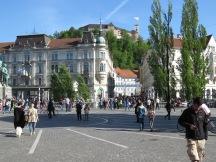 Busy streets of Ljubljana Slovenia - by Anika Mikkelson - Miss Maps - www.MissMaps.com