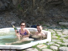 Celebrating a birthday in style - in an Icelandic thermal pool - BYOB - Iceland - by Anika Mikkelson - Miss Maps - www.MissMaps.com
