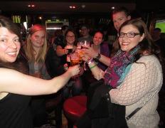 Cheers to a few fun days together - Knox's Bar Ennis Ireland - Shamrocker Adventure Tours - by Anika Mikkelson - Miss Maps - www.MissMaps.com