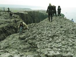 Climbing the cliffs of Burren Ireland - by Anika Mikkelson - Miss Maps - www.MissMaps.com