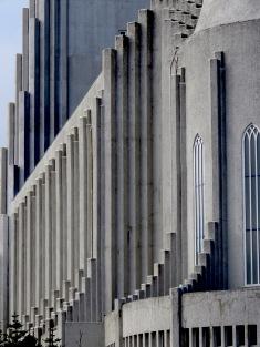 Close Up of Hallgrímskirkja Church - Reykjavik Iceland - by Anika Mikkelson - Miss Maps - www.MissMaps.com