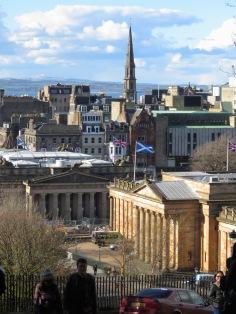 Edinburgh Skyline - by Anika Mikkelson - Miss Maps - www.MissMaps.com