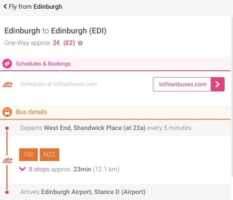 Edinburgh to Jersey Step 4 - MissMaps.com