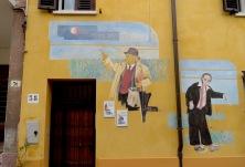 Fellini Murals - Rimini Italy - by Anika Mikkelson - Miss Maps - www.MissMaps.com
