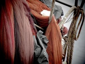 Fishing Nets in the harbor of Pula Croatia - by Anika Mikkelson - Miss Maps - www.MissMaps.com