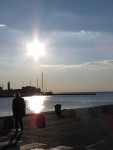 Fishing Time - Trieste Italy - by Anika Mikkelson - Miss Maps - www.MissMaps.com