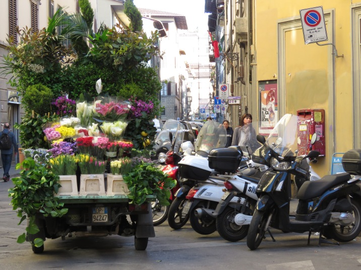 Flower Truck of Florence Italy - by Anika Mikkelson - Miss Maps - www.MissMaps.com