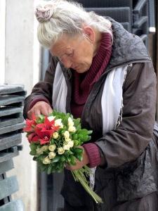 Flowers for Sale - Dubrovnik Croatia - by Anika Mikkelson - Miss Maps - www.MissMaps.com