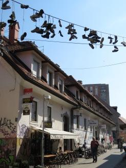Graffiti and Shoe Stocks - Ljubljana Slovania - by Anika Mikkelson - Miss Maps - www.MissMaps.com
