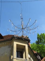 Hanging Chandeliers of Ljubljana Slovenia - by Anika Mikkelson - Miss Maps - www.MissMaps.com