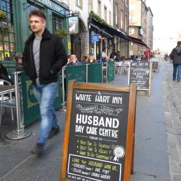 Husband Day Care Centre at White Hart Inn Edinburgh Scotland - by Anika Mikkelson - Miss Maps - www.MissMaps.com