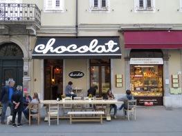 I wouldn't mind working here - Chocolat - Trieste Italy - by Anika Mikkelson - Miss Maps - www.MissMaps.com