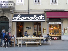 I wouldn't mind working here - Chocolat - Trieste Italy - by Anika Mikkelson - Miss Maps - www.MissMaps.com