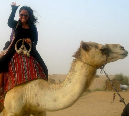 Jelitsa and her new pal - MissMaps.com Featured Female Traveler