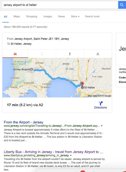 Jersey Airport to St Helier - MissMaps.com