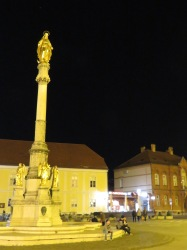 Kaptol Square at Night - Zagreb Croatia - by Anika Mikkelson - Miss Maps - www.MissMaps.com