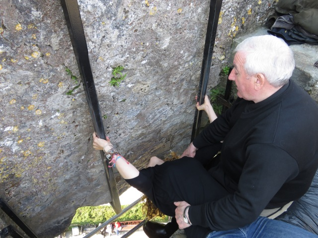 Kissing the Blarney Stone - Ireland - by Anika Mikkelson - Miss Maps - www.MissMaps.com