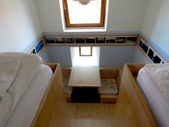 Platform beds from above - Hotel Celiac Ljubljana Slovania - by Anika Mikkelson - Miss Maps - www.MissMaps.com