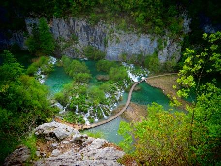 Plitvice Falls from above - Croatia - by Anika Mikkelson - Miss Maps - www.MissMaps.com