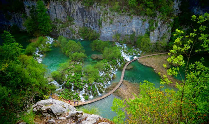 Plitvice Falls from above - Croatia - by Anika Mikkelson - Miss Maps - www.MissMaps.com
