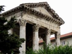 Pula's Temple of Agustus - Pula Croatia - by Anika Mikkelson - Miss Maps - www.MissMaps.com
