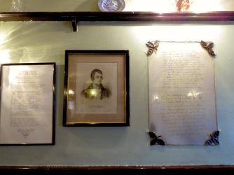 Robert Burns's own handwritten poem and portrait in Kenmore Scotland - by Anika Mikkelson - Miss Maps - www.MissMaps.com